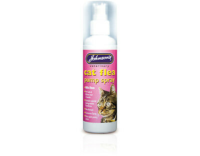 Johnsons Cat Flea Spray Pump Treatment UK Cats Kittens Killing Fleas Trendy