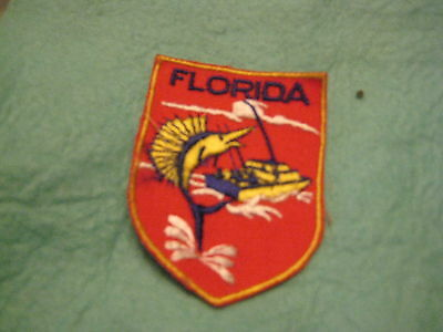 """Vintage State Of Florida Sew on Patch 2"""" X 2 3/4 """""""