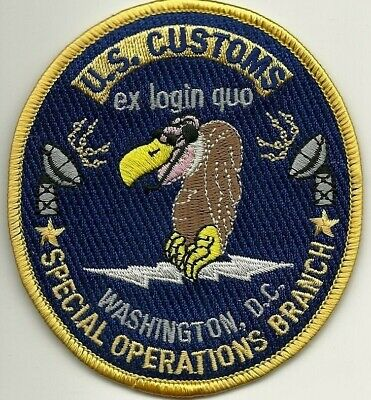 US  Customs SPECIAL OPERATIONS, Washington !! ZOLL Abzeichen Patch Aufnäher