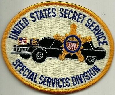 US SECRET SERVICE: SPECIAL SERVICES DIVISION Limo Patch Polizei Abzeichen USSS