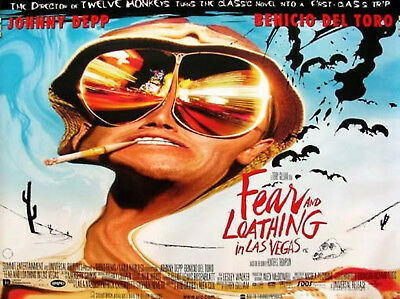 FEAR AND LOATHING IN LAS VEGAS 1998 Johnny Depp RALPH STEADMAN UK QUAD POSTER