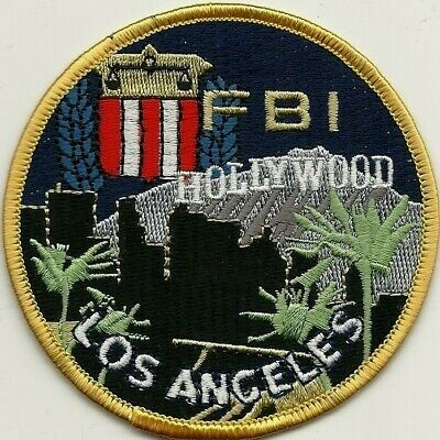 FBI: HOLLYWOOD - LOS ANGELES - CALIFORNIA Police Patch Polizei StoffAbzeichen