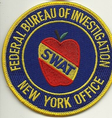 FBI: NEW YORK CITY - SWAT Big Apple Police Patch SEK Polizei Stoffabzeichen NYPD