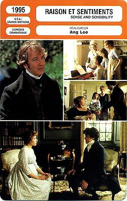 Fiche Cinéma. Movie Card. Raison et sentiments/Sense and sensibility (USA) 1995