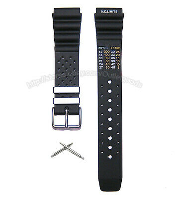 20mm 22mm 24mm Aqualand Promaster Rubber Diver Watch Band Strap w/ N.D. Limits M