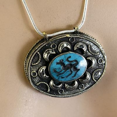 BellyDance ATS tribal PENDANT (Chain not included) Afghani Kuchi 731j7