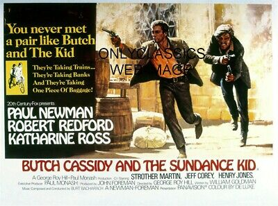 Butch Cassidy & The Sundance Kid Movie Poster Outlaws Robert Redford Paul Newman