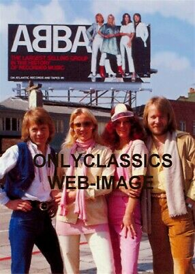 1978 Abba On Sunset Strip Billboard Advertising Sign Photo Hollywood California