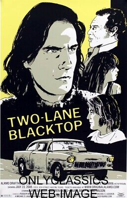 Two Lane Blacktop Hot Rod Auto Drag Racing Movie Art Poster Chevrolet Muscle Car
