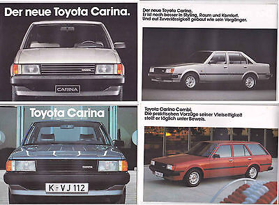 Two 1982 TOYOTA A60 CARINA 8 and 16 Page German Brochures 3rd Generation