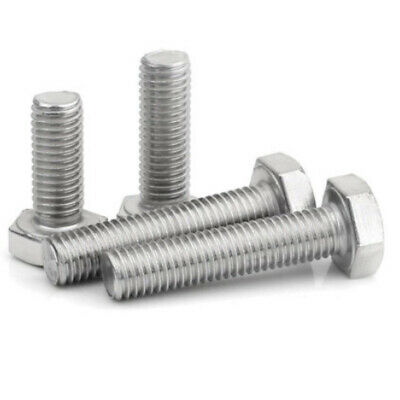 M10 (10mm) A4 MARINE GRADE STAINLESS FULLY THREADED BOLT SCREW HEXAGON HEX SET