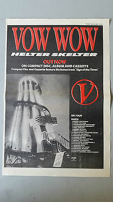 "Vow Wow ""Helter Skelter"" 1989 SOUNDS Trade Press Advert Poster Size"