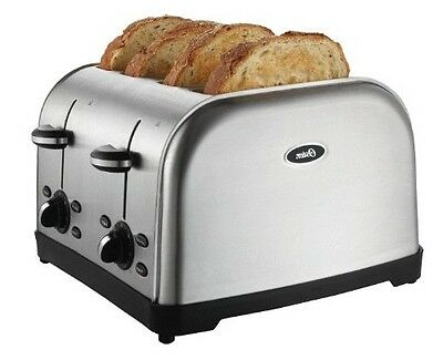 Kitchen Toaster 4 Slice Commercial Restaurant Style Chrome Bread Automatic Bagel