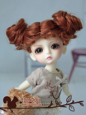 """[EDEN] LATI Doll Leaves 1/8 Brown two ways buns/curly wig 5~6"""""""