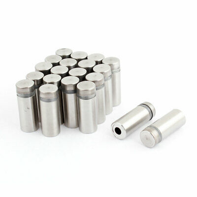 12mm x 30mm Stainless Steel Advertising Nail Wall Glass Standoff Pin 20 Pcs