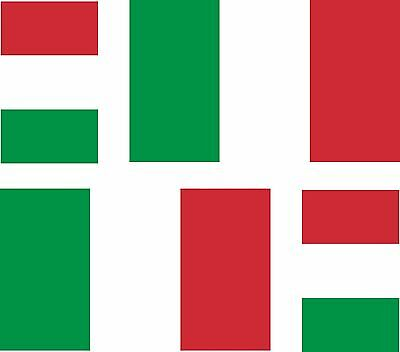 4x italy italian italia flag decals sticker car vinyl helmet