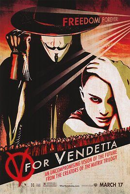 V For Vendetta Advance C Single Sided Original Movie Poster 27x40 inches