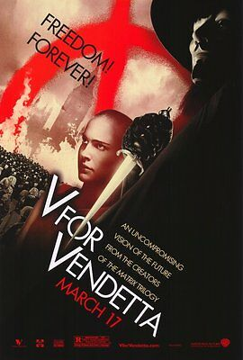 V For Vendetta Advance D Single Sided Original Movie Poster 27x40 inches