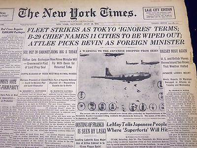 1945 July 28 New York Times - Fleet Strikes As Tokyo Ignores Terms - Nt 388