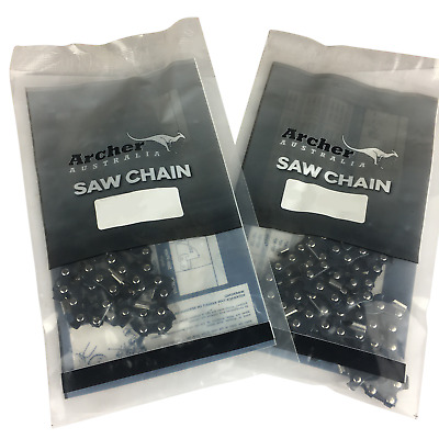 "2 x Archer Chainsaw Saw Chain Fits Sovereign Homebase CS38 16"" 54 Drive Link"