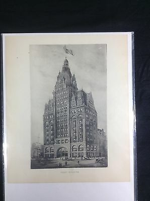Pabst Building Brewery c1889 Photogravure Print Milwaukee Wisconsin