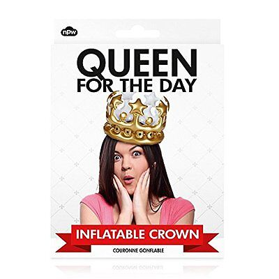NPW Worldwide QUEEN For The Day Inflatable Crown W13641 Birthday/Bachelorette