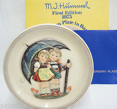Goebel Hummel First Edition Anniversary Plate Stormy Weather 1975 HUM280 w Box