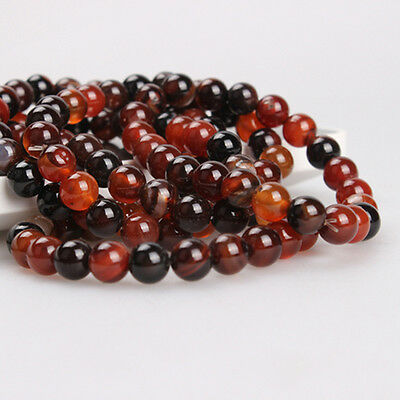 Lots 5-40PCS Natural Precious Gemstone Agate Carnelian Round Stone Loose Beads