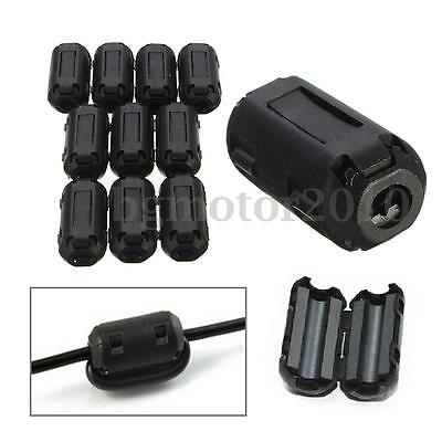 10pc Φ 3.5mm Snap Ferrite Core Noise Suppressor EMI RFI EMC Clip Cable Filter