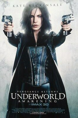 Underworld : The Awakening Intl in Imax and 3D Two Sided Orig Movie Poster 27x40