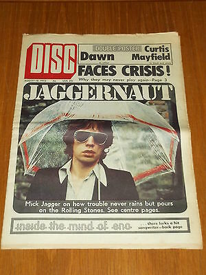 Disc And Music Echo August 18 1973 Faces Mick Jagger Brian Eno Dawn