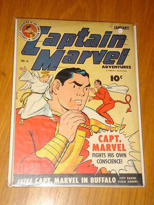 Captain Marvel Adventures #31 Fn- (5.5) 1944 January Fawcett*