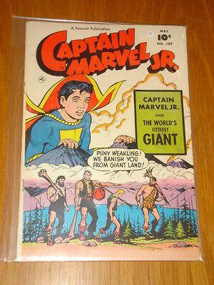 Captain Marvel Jr #109 Vg (4.0) 1952 May Fawcett*