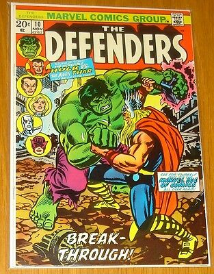 Defenders #10 Vf+ (8.5) November 1973 Classic Hulk Vs Thor Battle Marvel Comics*