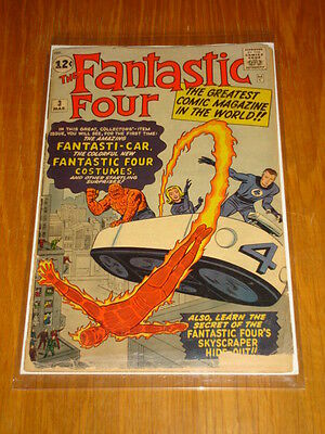 Fantastic Four #3 G+ (2.5) Origin 1St Costumes March 1962 Kirby Marvel*