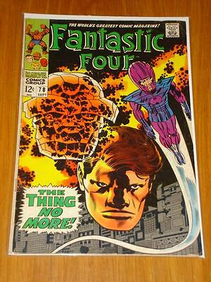 Fantastic Four #78 Marvel Comic Sept 1968 Vg (4.0) *