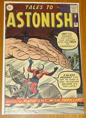 Tales To Astonish #36 Vg+ (4.5) Marvel Comics 3Rd App Ant-Man October 1962*