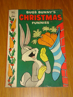 Bugs Bunny's Christmas Funnies #3 Vg (4.0) 1952 Dell Giant Comic A