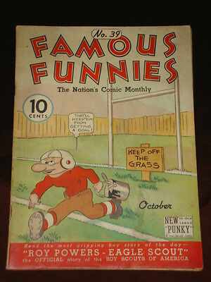 Famous Funnies #39 Vg+ (4.5) Eastern Golden Age Comic