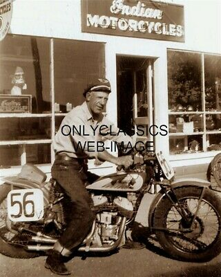 Jc Pappy Hoel Indian Dealer Motorcycle Racer Founder Of Sturgis Rally 8X10 Photo