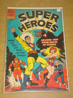 Super Heroes #1 Vg (4.0) Fab Four Dell Comics January 1967 Cover B