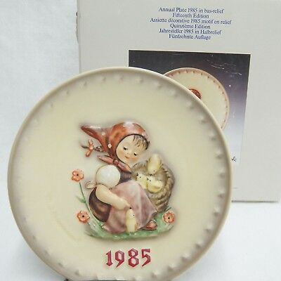 Goebel Hummel 1985 15th Annual Plate HUM278 Chick Girl