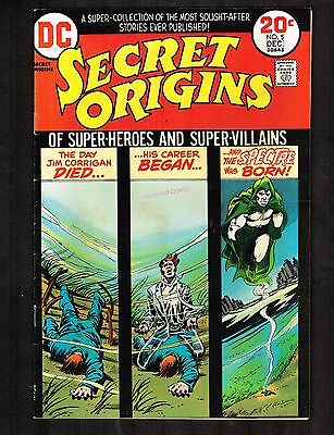 Secret Origins #5 ~~ 1973 The Spectre! ~ (8.0) WH