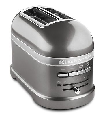 KitchenAid Pro Line Series Medallion Silver 2-Slice Automatic Toaster RKMT2203MS