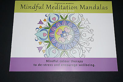 Mindful Meditation Mandala Coloring book stained glass decal design Spirit New