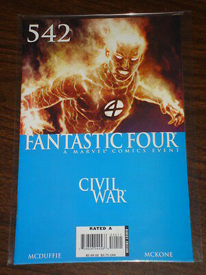 Fantastic Four #542 Vol1 Marvel Comics Civil War March 2007