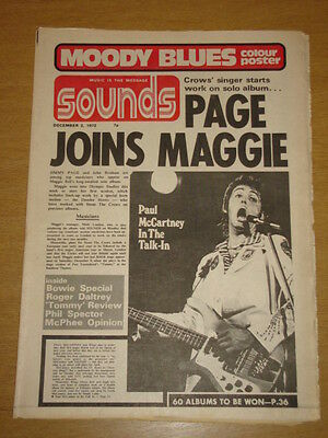 Sounds 1972 Dec 2 Jimmy Page Maggie Bell David Bowie <