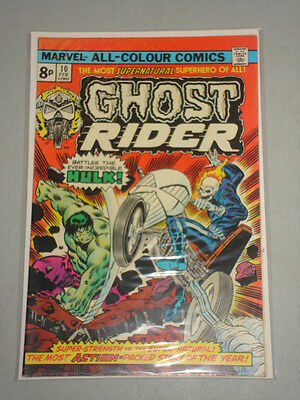 Ghost Rider #10 Vol 1 Marvel Comics Hulk Apps February 1975
