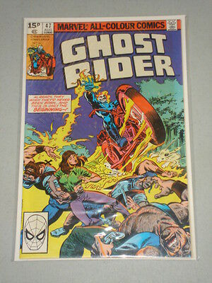 Ghost Rider #47 Vol 1 Marvel Comics August 1980