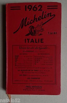 guide MICHELIN rouge ITALIE 1962
